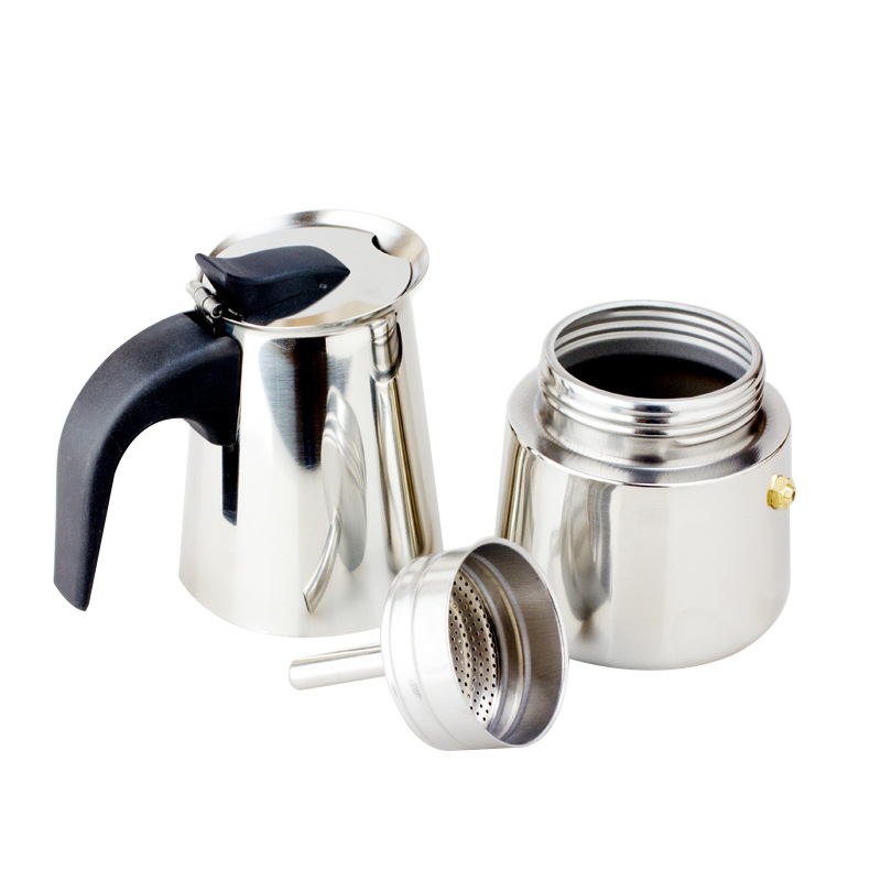 Stainless Steel Mocha Coffee Pot Stovetop Espresso Coffee Maker Moka Percolator eBay