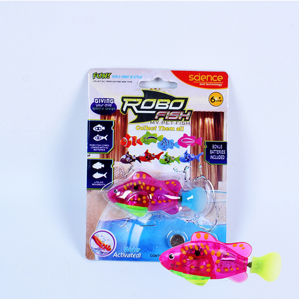 8pcs robo battery operated fish toy water activated for Battery operated fish