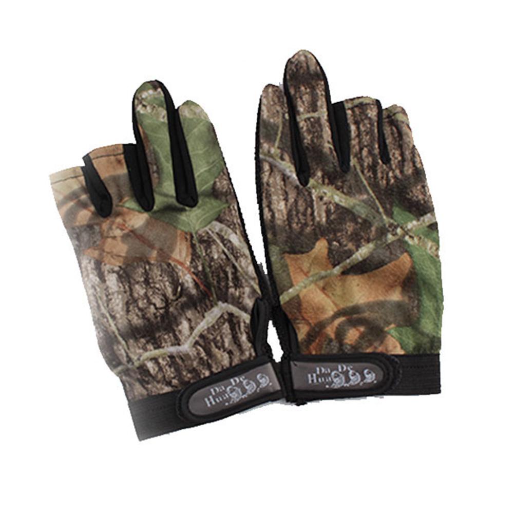 New waterproof antiskid fingerless fishing hunting gloves for Fingerless fishing gloves