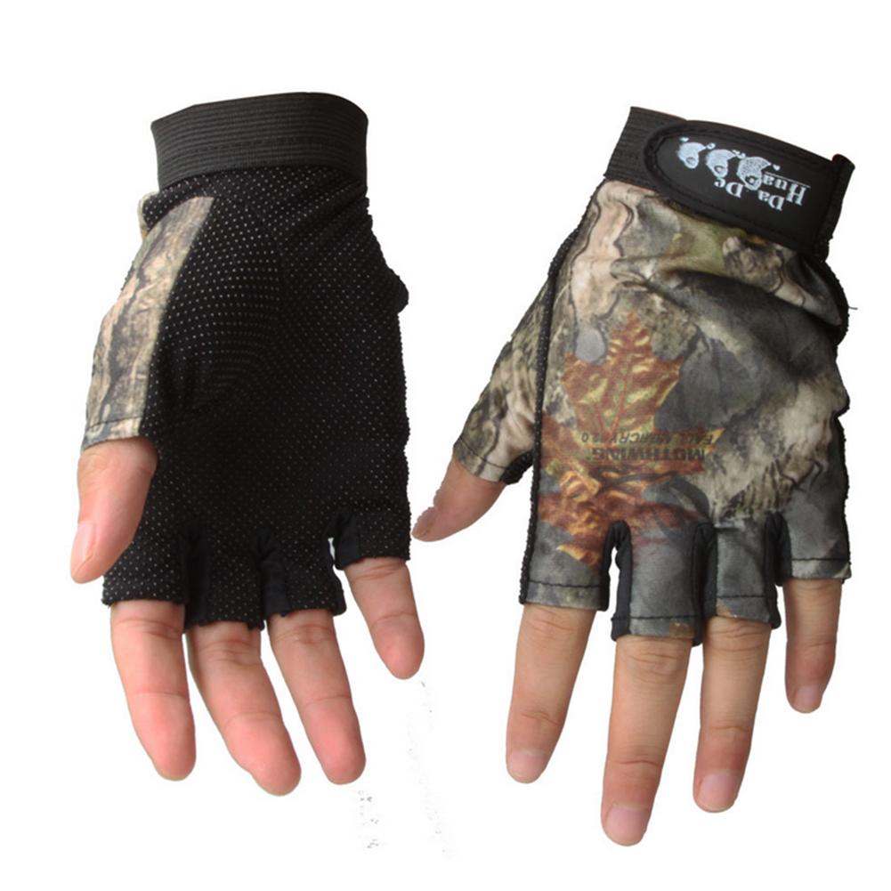 New waterproof antiskid fingerless fishing hunting gloves for Fishing sun gloves