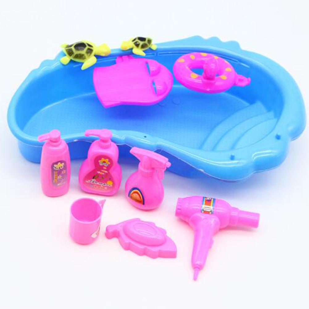 11 Pcs Bath Supplies for Barbie Doll Bathing Pool Hair Drier Soap ...